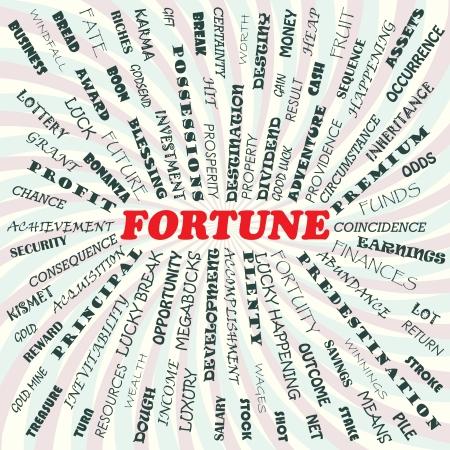 destin: illustration du concept de fortune