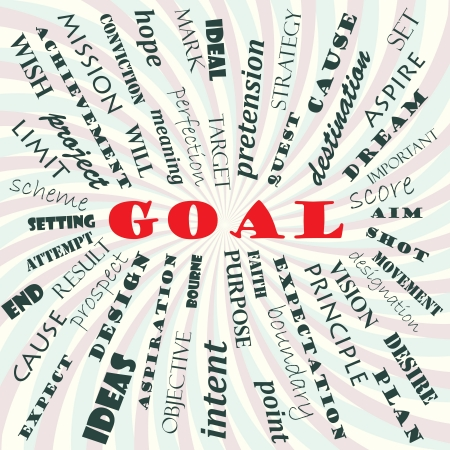 dream vision: illustration of goal concept