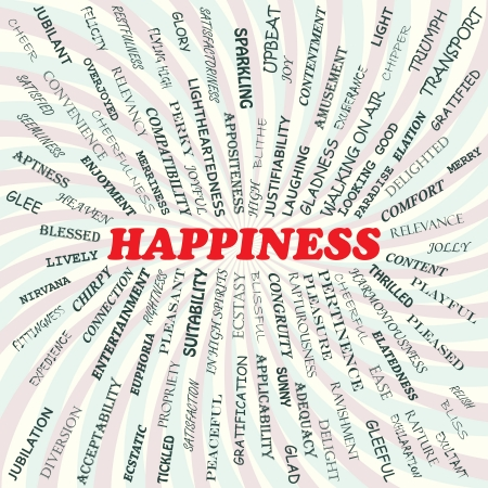 illustration of happiness concept    Illustration