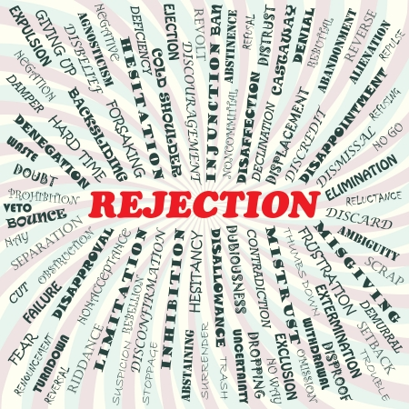 rejection: illustration of rejection concept