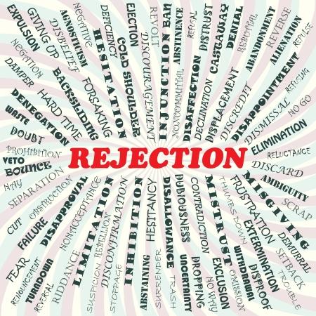 Ilustración del concepto de rechazo