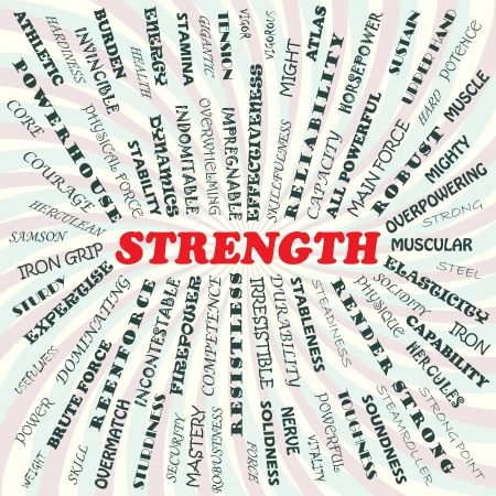 irresistible: illustration of strength concept