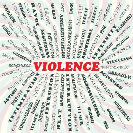 bloodshed: Ilustraci�n del concepto de violencia Vectores