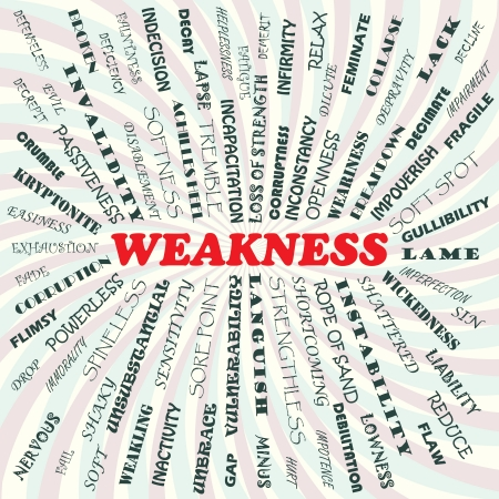 lame: illustration of weakness concept    Illustration