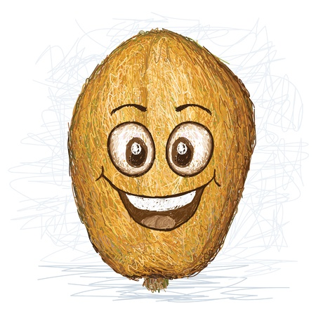 golden apple: happy golden apple fruit cartoon character smiling
