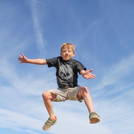 Bounce with joy Stock Photo
