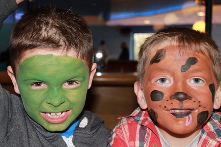 daft: Face painted friends