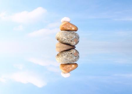 balanced rocks: Floating pebble stack
