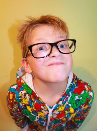 daft: Boy making faces Stock Photo