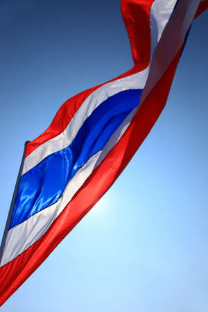 waving thai flag