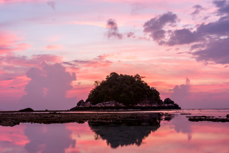 Beautiful sunrise on Koh Lipe Beach Thailand ,Summer vacation