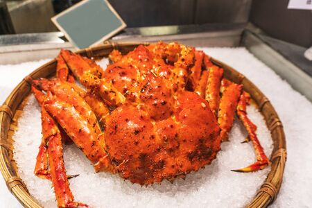 King Crabs at Taipei fish market, Taiwan Banco de Imagens