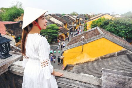 Travel woman at Streets of Hoi An, Vietnam
