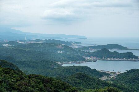 Landscape view from  Jiufen, Taipei, Taiwan.