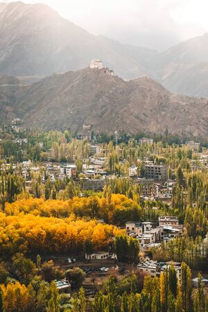 Autumn View of landscape in Leh Ladakh District, Northern part of India