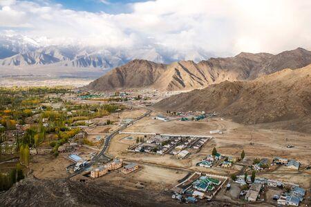Autumn View of landscape in Leh Ladakh District, Northern part of India Banco de Imagens - 130737998