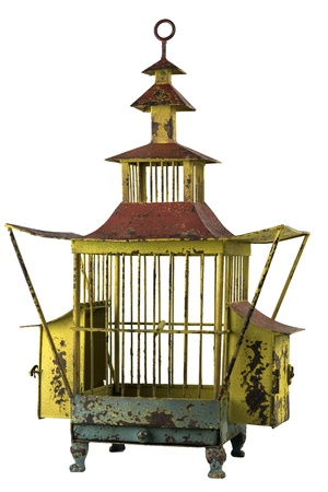 Antique Birdcage Stock Photo - 17642032