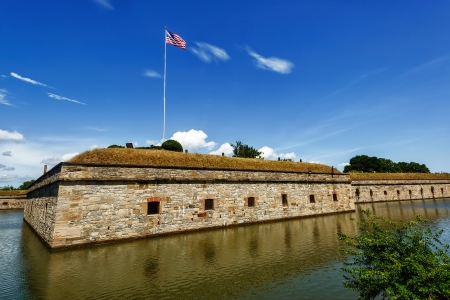 fort jefferson: Fort Monroe National Monument in Hampton Virginia on the Chesapeake Bay Stock Photo