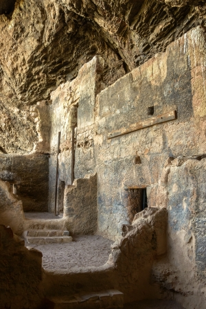 the dwelling: Indian Cliff Dwelling at Tonto National Monument, Arizona Stock Photo