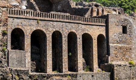 pompeii: Ruins of Pompeii Stock Photo