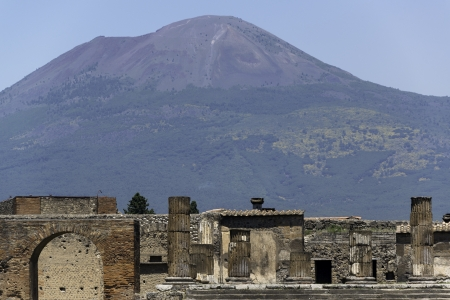 Ruins of Pompeii and Mt Vesuvious