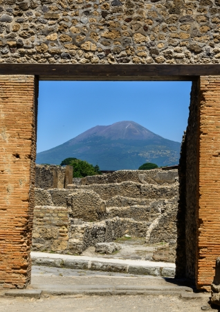 Pompeii and Mt Vesuvious photo