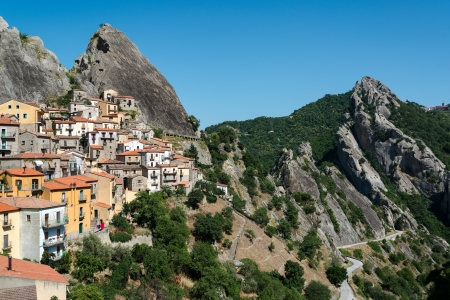 potenza: Castelmezzano Stock Photo