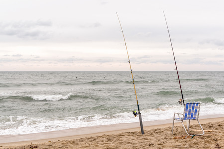 hatteras: Surf fishing on Hatteras Island, NC.