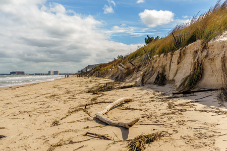 joaquin: Beach erosion from the Nor-easter that occured from hurricane Joaquin passing by in Virginia Beach, Va.