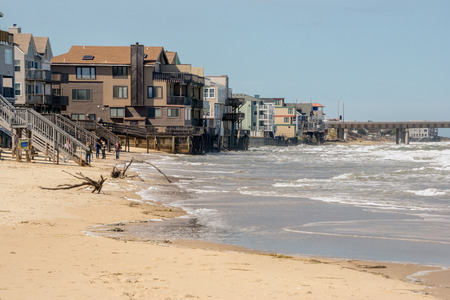 A look at Chesapeake beach, in Virginia Beach, Virginia after the Nor-easter from Hurricane Joaquin passed by. Reklamní fotografie
