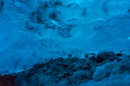 unaffected: An ice cave located near the Jokulsarlon lagoon in the Vatnajokull glacier in south Iceland. The glacier is the largest galcier iEurope.