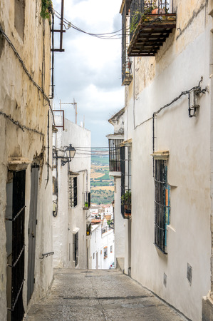 A street in the Spainish white hilltop town of Arcos de la Frontera.