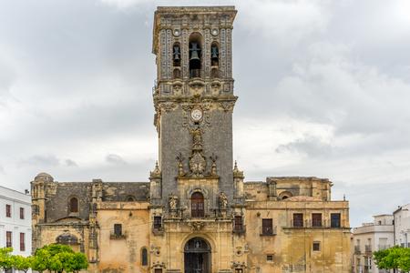 Mudejar Iglesia de Santa Maria church located in Arcos de la Frontera, Spain