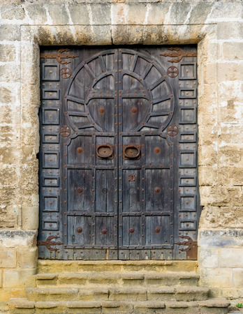 One of the doors of the Castle San Marcos. A 13th century structure built by Alfonso X of Castile. Banco de Imagens