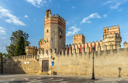 Entrance to the Castle San Marcos. A 13th century structure built by Alfonso X of Castile. Banco de Imagens