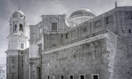 An infrared view of the Cathedral of Cadiz Spain Reklamní fotografie