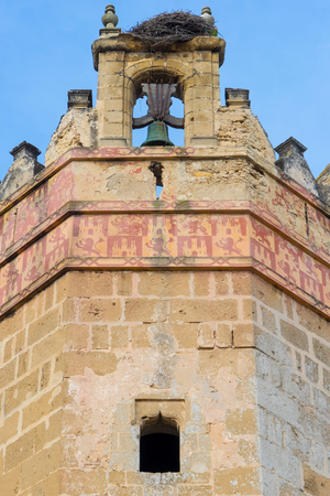 marcos: One of the towers of the Castle San Marcos. A 13th century structure built by Alfonso X of Castile. Stock Photo