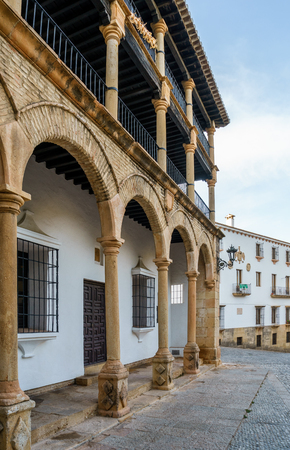 would: During the reign of Felipe II these balconies were used as Boxes from which nobility would sit and watch jousts and public acts.