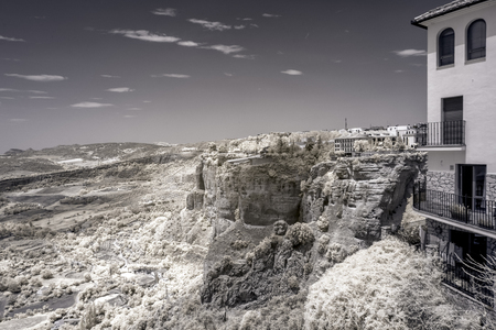 A look at the valley that is south of the New Bridge in Ronda Spain