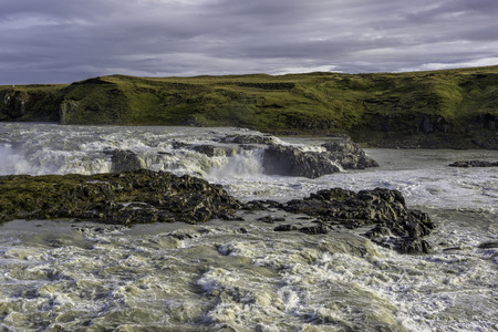 Urridafoss waterfall. Located outside the town of Selfoss in the South-west of Iceland.