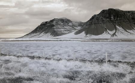 赤外線はその西部にアイスランドの風景を見てください。