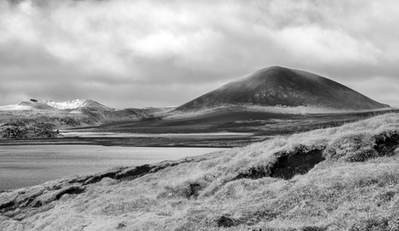One of many Icelandic volcano craters. This being on the Western side of the Island.