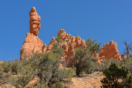 Sandstone formations just outside of Bryce Canyon.