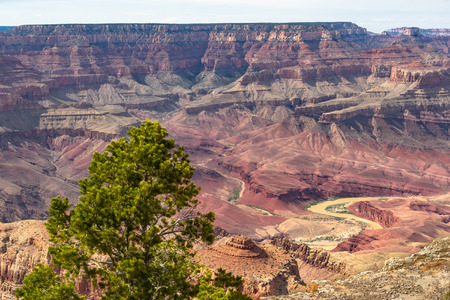 A view from the south rim inside Grand Canyon National Park.