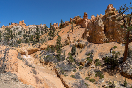 The Mossy Cave Trail in the northern end of Bryce Canyon National Park