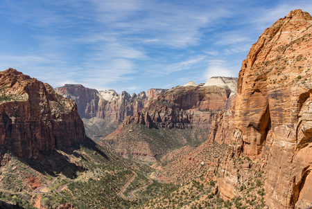A portion of the valley overlook trail in Zion National Park