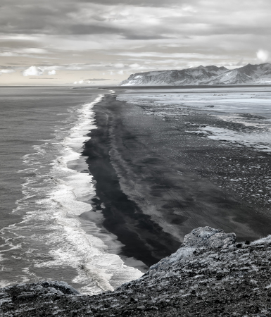 The black sand beach of Reynisfjara on Iceland's South Coast is one of the most unique beaches in the world.  It was created by lava flowing into the ocean which cooled almost instantly as it touched the water.