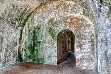 Interior walkway inside Fort Pickens, Santa Rosa Island, Florida
