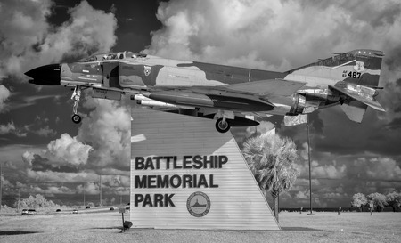 F-4C on static display at entrance to the Battleship Memorial Park in Mobile Al.