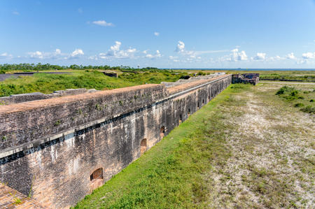 An outer wall of Ft. Pickens looking towards the harbor entrance,. Reklamní fotografie